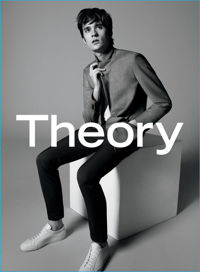 Alain-Fabien Delon is front and center for Theory's fall-winter 2016 advertising campaign.
