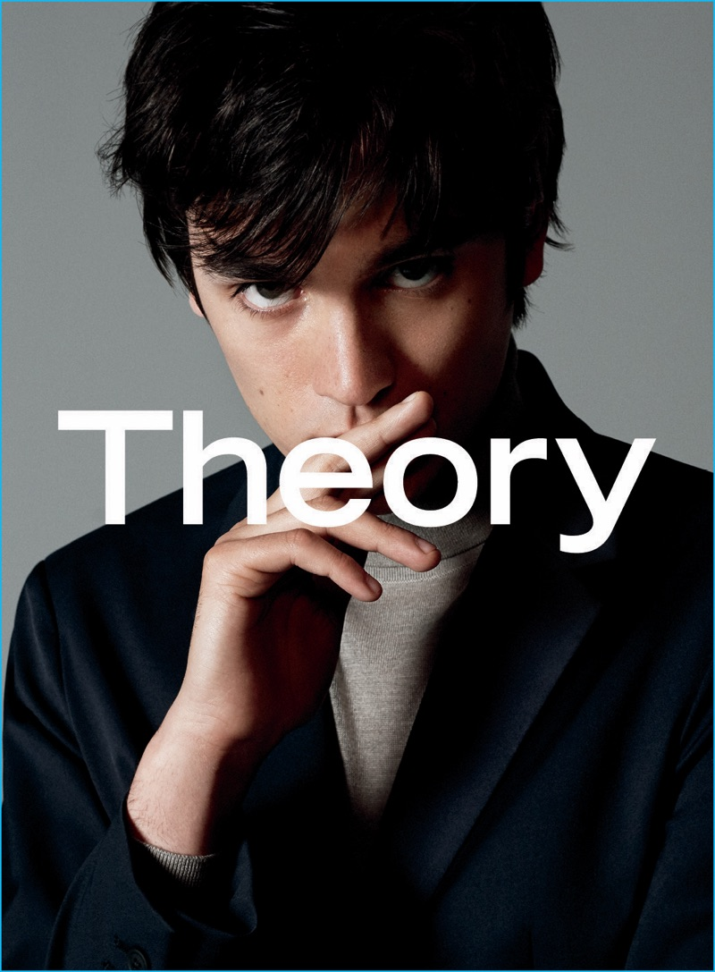 Alain-Fabien Delon fronts Theory's fall-winter 2016 advertising campaign.