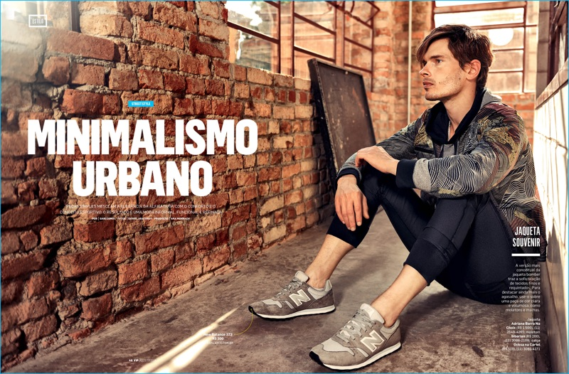 Model Álvaro Casavecchia goes sporty for the pages of VIP Brasil's latest issue.