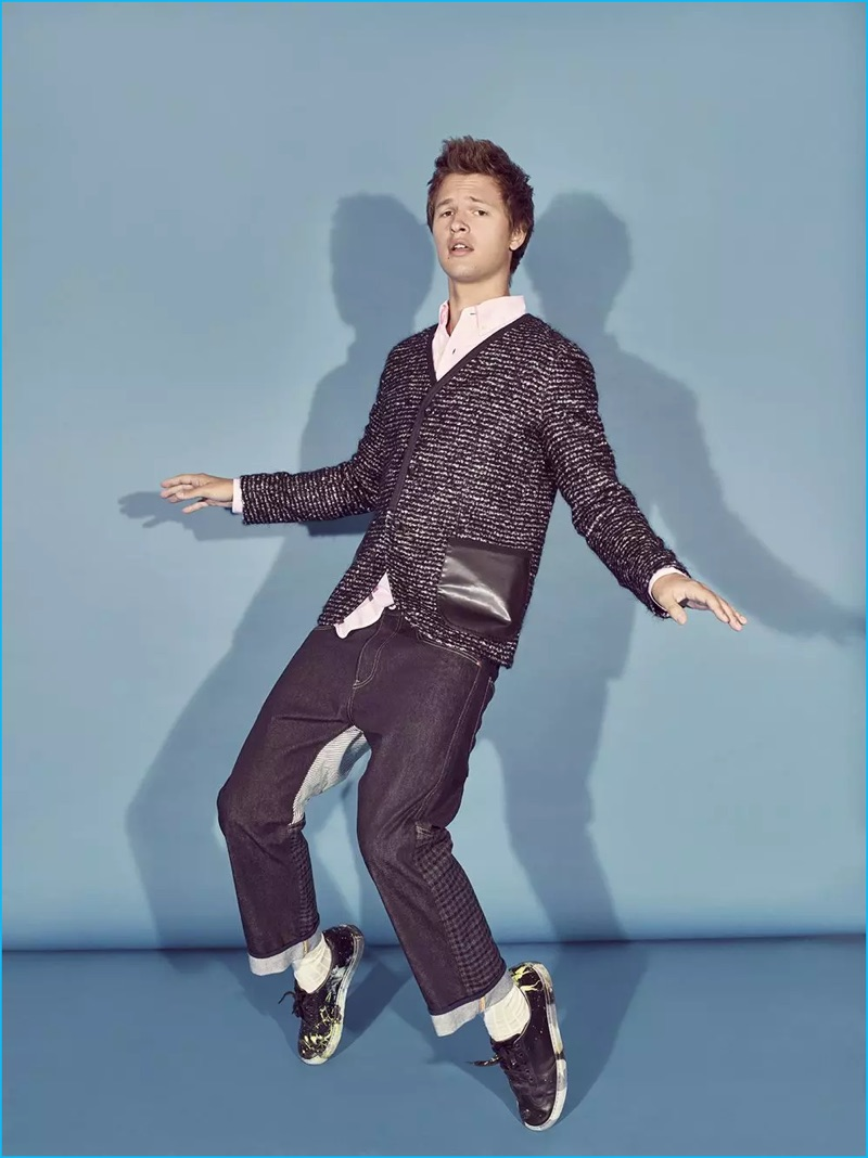 Ansel Elgort draws from his background as a dancer to break out some moves for his Variety photo shoot.