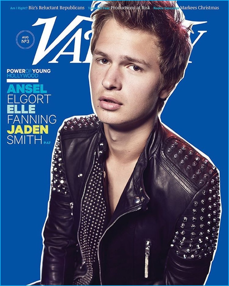 Ansel Elgort covers the Young Hollywood issue of Variety magazine.