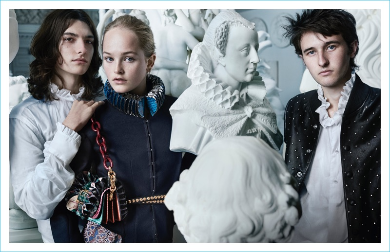 Alex Dragulele, Jean Campbell and Cavan McCarthy front Burberry's fall 2016 campaign.