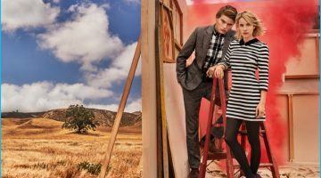 Jordan Barrett Joins Emma Roberts for Canvas by Lands' End Fall Campaign