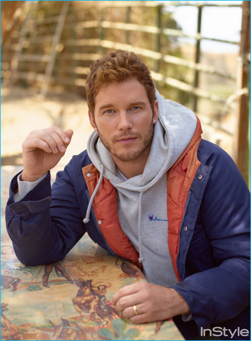 Chris Pratt featured in an outtake from his InStyle photo shoot.