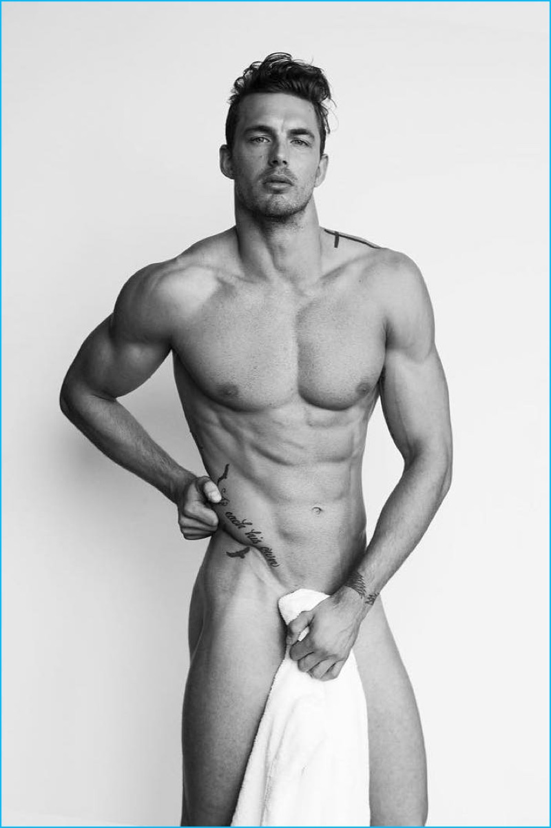 Christian Hogue Nude 2016 Mario Testino Towel Series