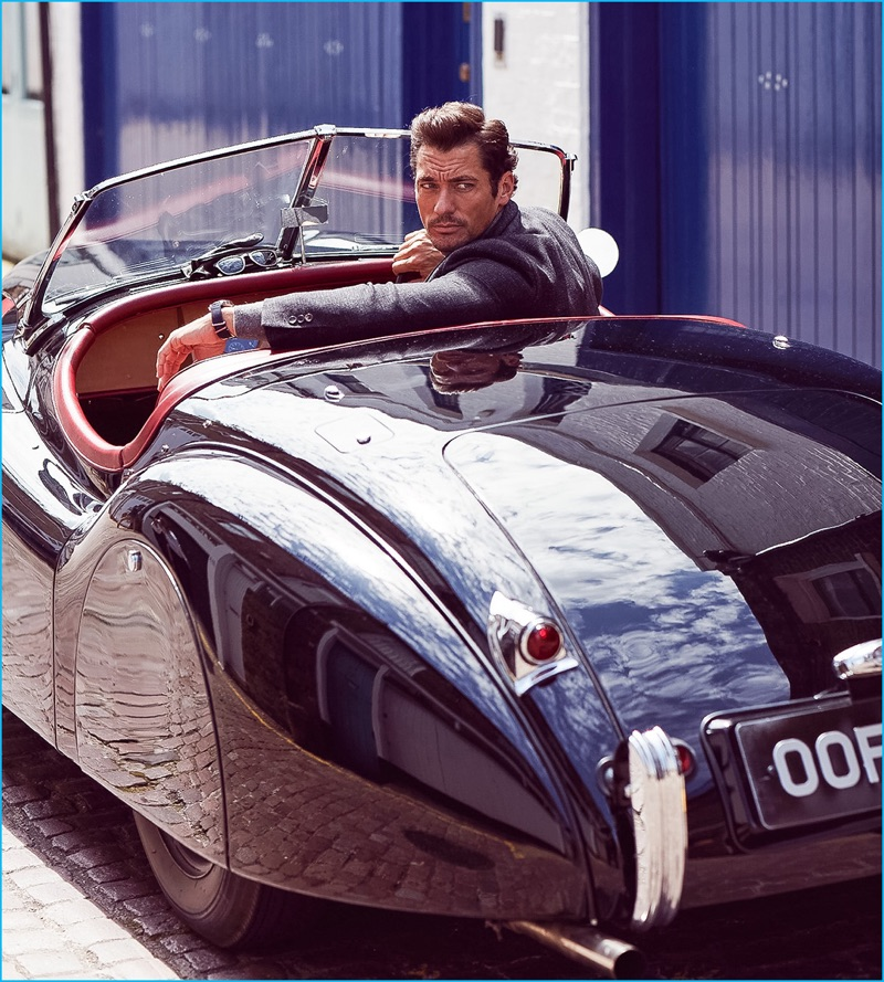 David Gandy stars in a new cover story for Vanity Fair UK On Route.