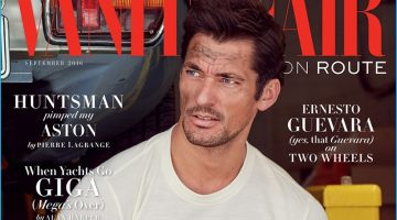 David Gandy Covers Debut Issue of Vanity Fair UK On Route