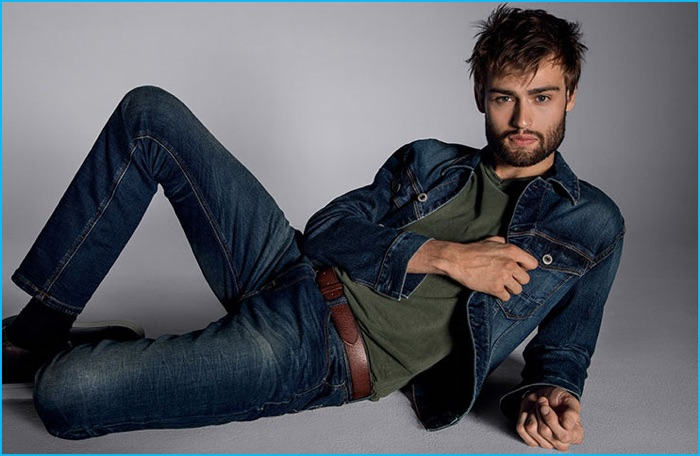 Douglas Booth stars in Express Jeans' fall-winter 2016 campaign.