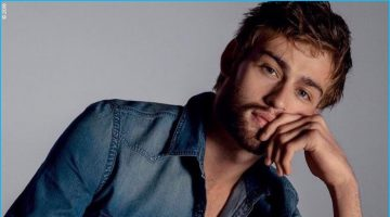 Douglas Booth Rocks Denim for Express' Fall Campaign