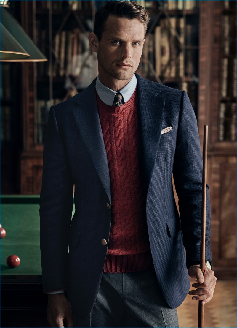 Guy Robinson Fronts Dunhills Fall Winter 2016 Campaign Donning A Sport Coat Over