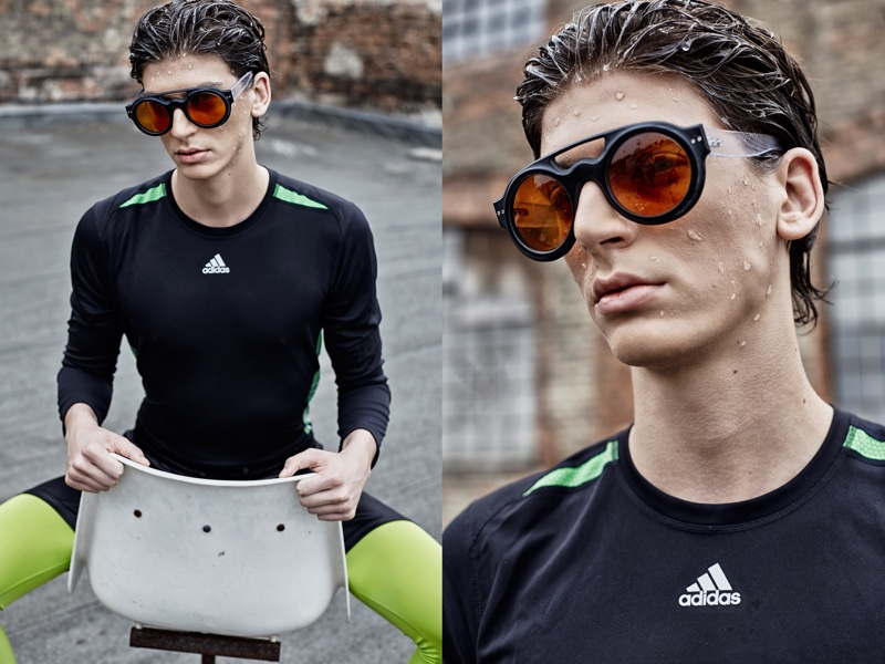 Peter wears all clothes Adidas and sunglasses Concept Eyewear.