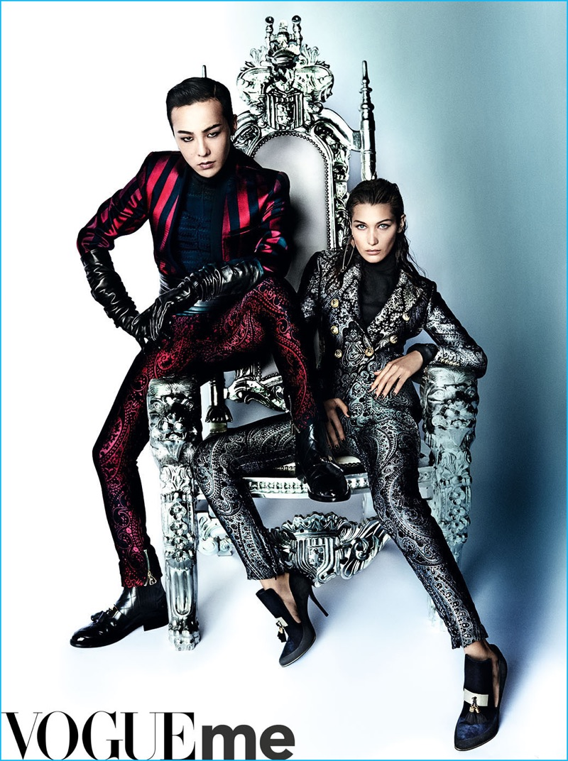 G-Dragon and Bella Hadid deliver a regal flair for Vogue ME.
