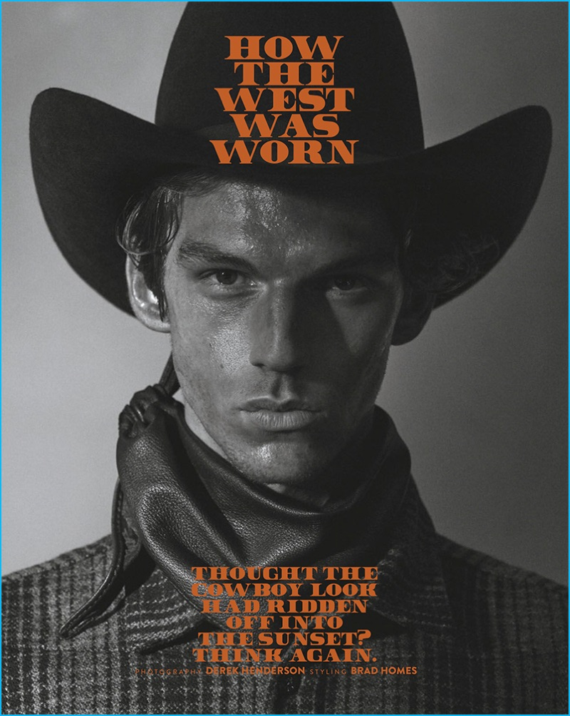 Miles Hurley embraces western style for a fashion editorial from GQ Australia.