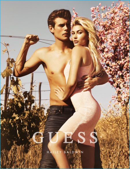 Matt Trethe Couples Up with Hailey Baldwin for GUESS' Fall Campaign