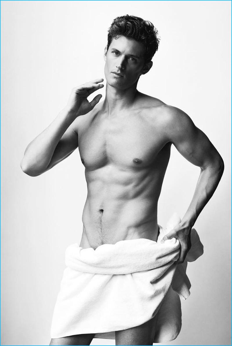 Garrett Neff Nude 2016 Mario Testino Towel Series