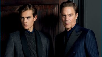Andre & Parker van Noord Front Gieves & Hawkes' Fall Campaign