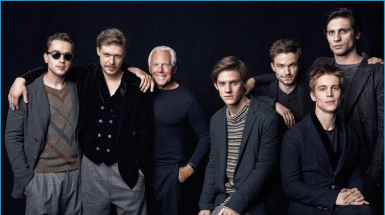 Giorgio Armani's Fall Fashions Steal the Spotlight for GQ Russia