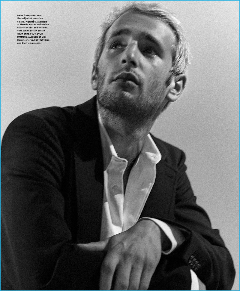 Hopper Penn photographed by Kevin Sinclair for Essential Homme.