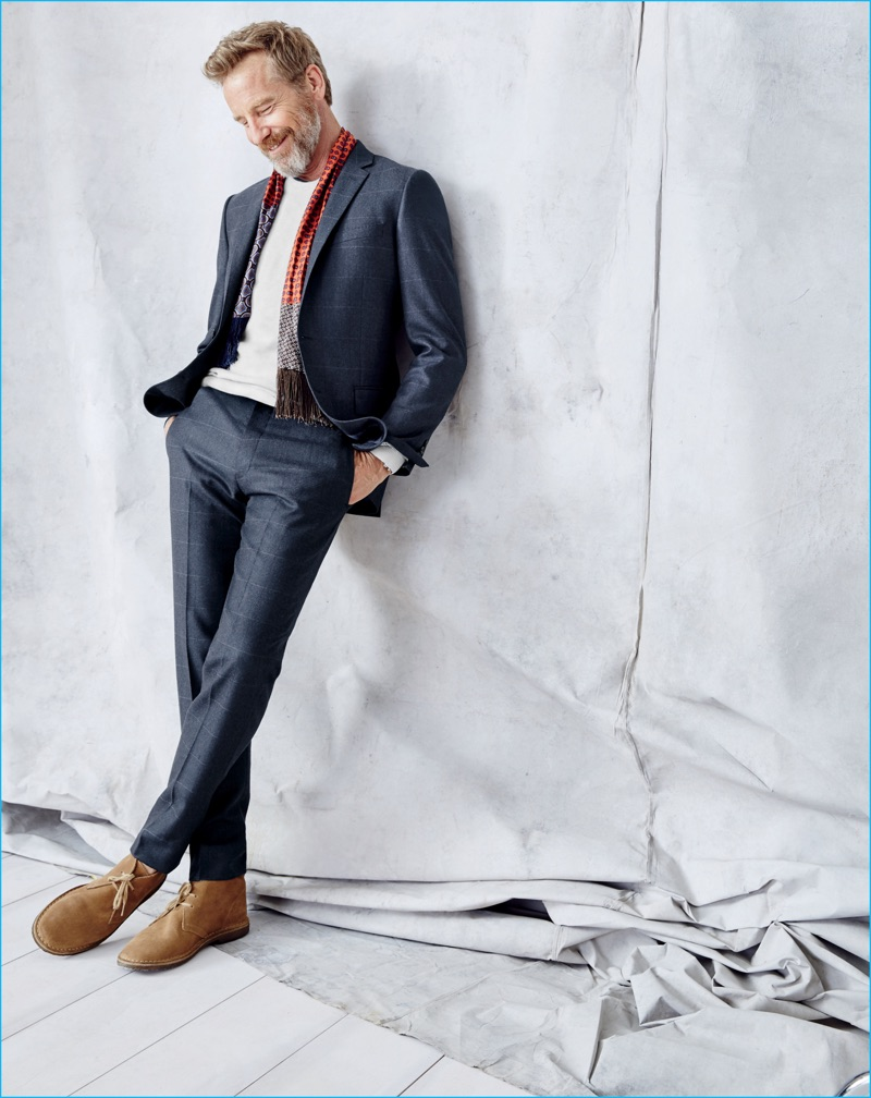Rainer Andreesen suits up for J.Crew's September 2016 style guide.