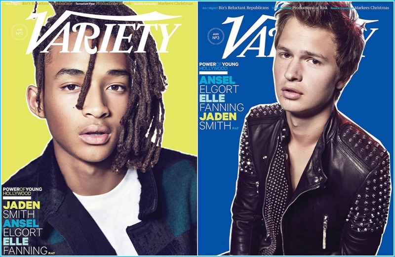 Cover Boys: Jaden Smith and Ansel Elgort cover Variety's Young Hollywood issue.
