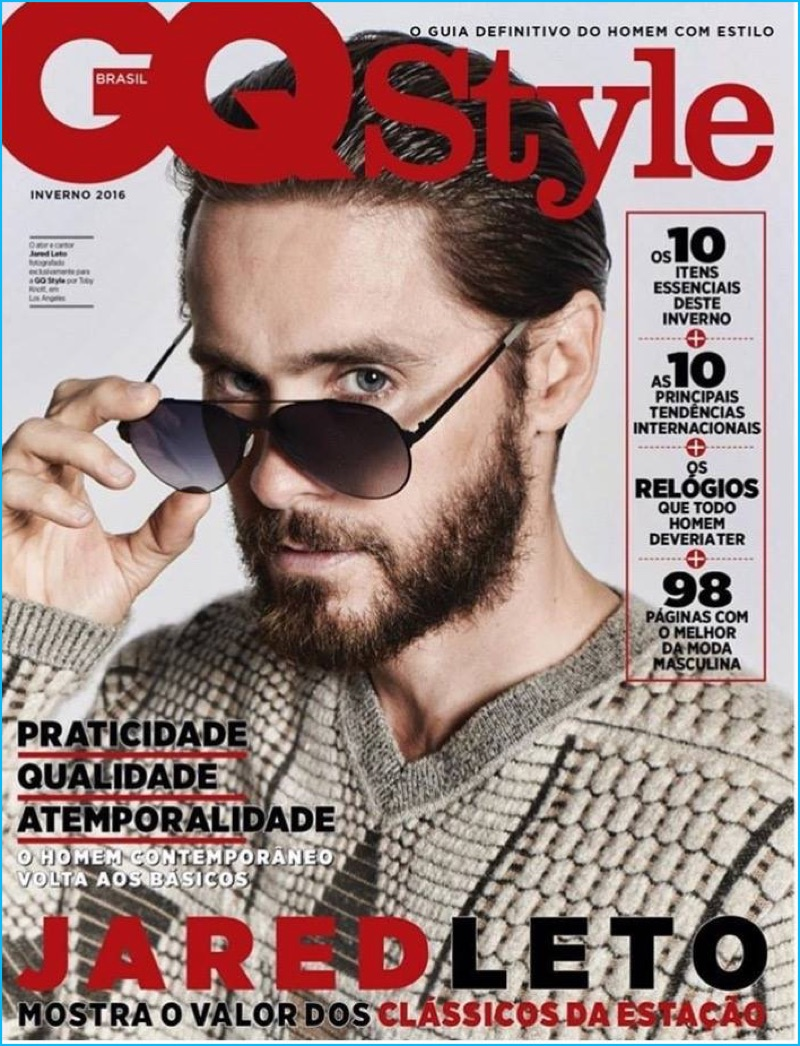a56af32135 Jared Leto covers GQ Style Brasil in a pair of Carrera sunglasses.