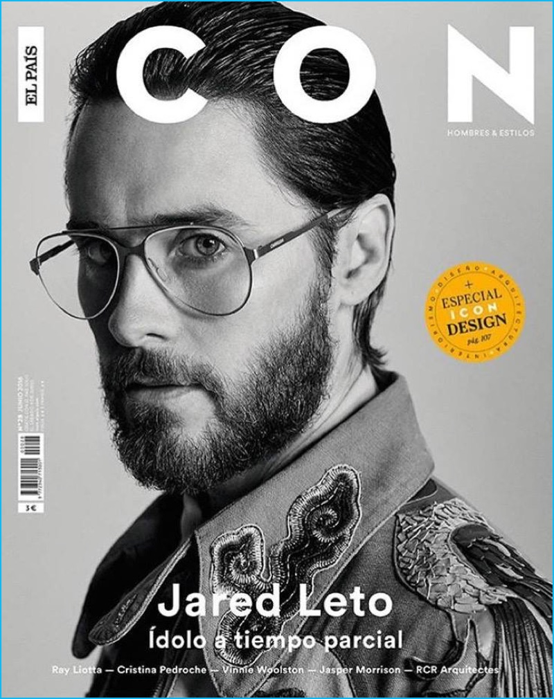 2a13ee2e77 Jared Leto Covers Icon El Pais in a pair of Carrera eyewear.