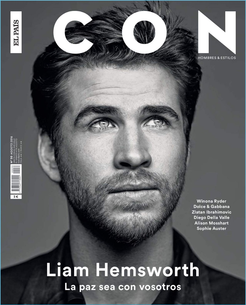 Liam Hemsworth covers the August 2016 issue of Icon El País.