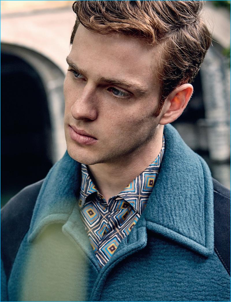 Lucas Mascarini takes on the season in a look from Italian fashion house Salvatore Ferragamo.