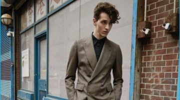Downtown Boy: Martin Conte Dons Leather & Tailoring for Men's Folio