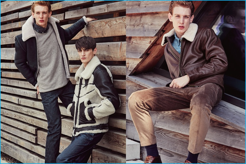Lucas Dambros and Mihai Bran tackle the shearling outerwear trend for Men's Health Germany.