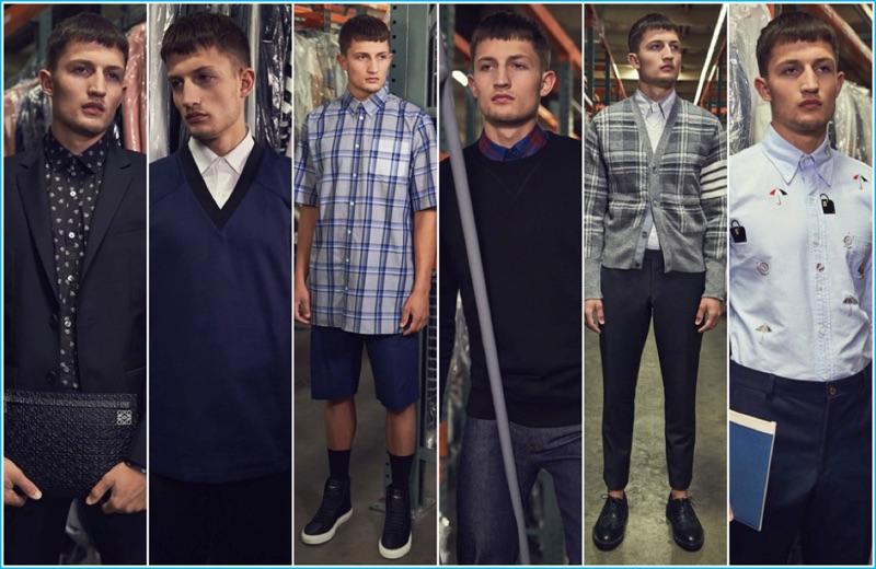 Forward Style: Model Frederik Woloszynski shows six ways to wear the essential button-down shirt.