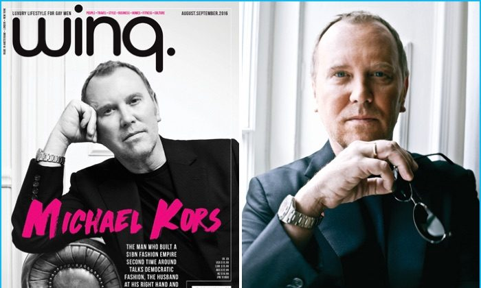 Michael Kors Covers Winq Magazine, Talks Accessible Fashion