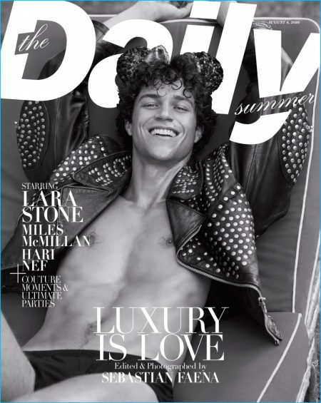 Miles McMillan Soaks in the Sun for The Daily Beach Cover Shoot