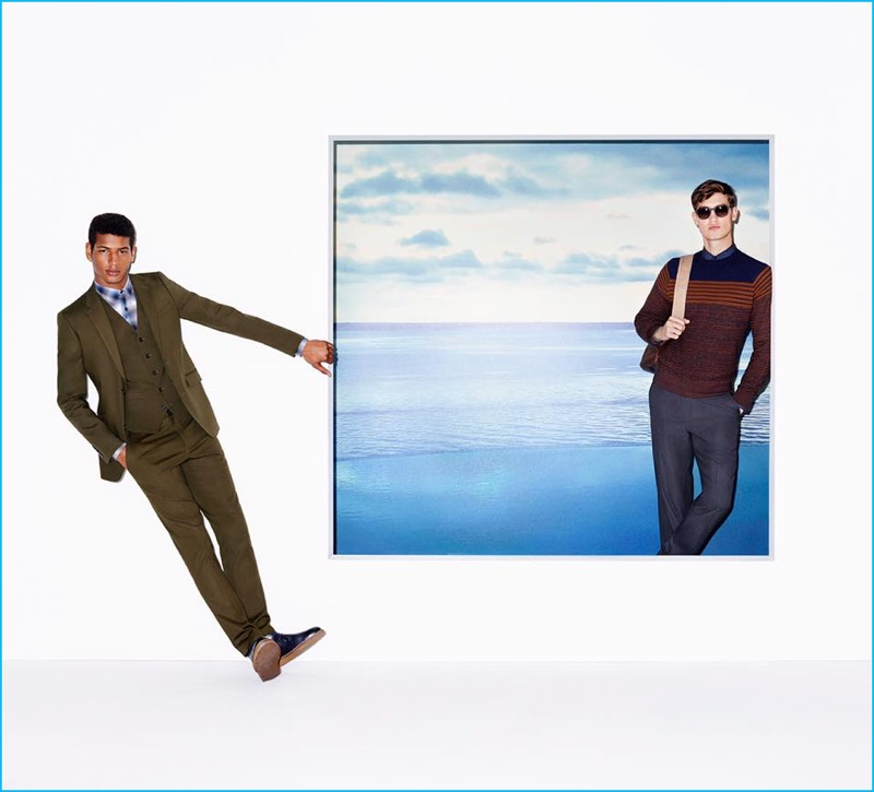 Models Tidiou M'Baye and Jason Anthony star in Perry Ellis' fall-winter 2016 campaign.