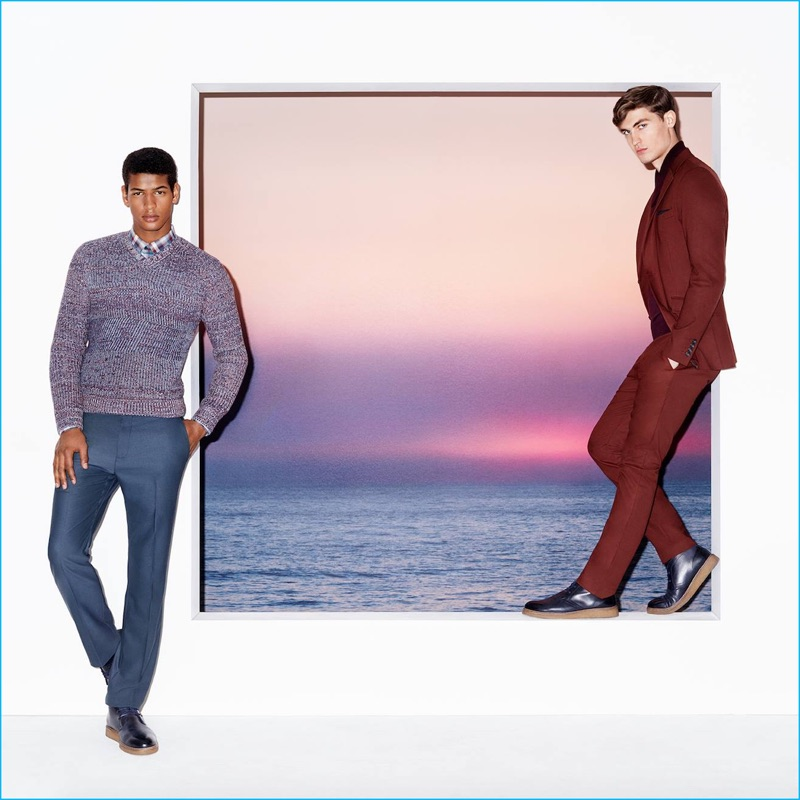 Models Tidiou M'Baye and Jason Anthony front Perry Ellis' fall-winter 2016 advertising campaign.