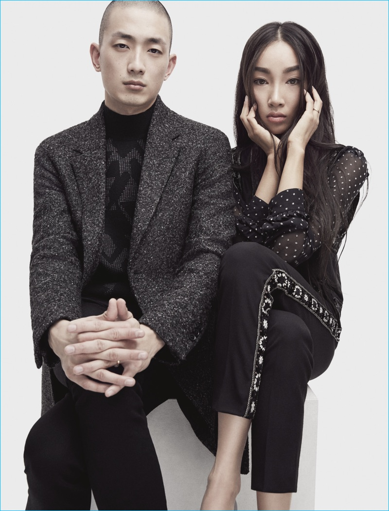 Couple Sung Jin Park and Gabi Moon for The Kooples' fall-winter 2016 campaign.