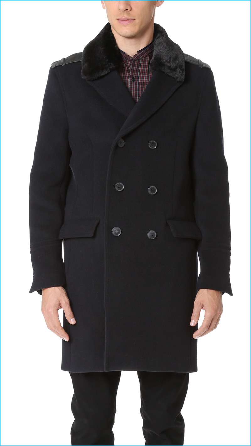 The Kooples Double-Breasted Coat
