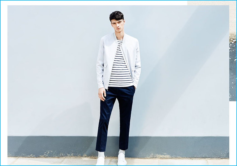 Giving the bomber jacket a smart update, Topman champions a tailored version for fall.