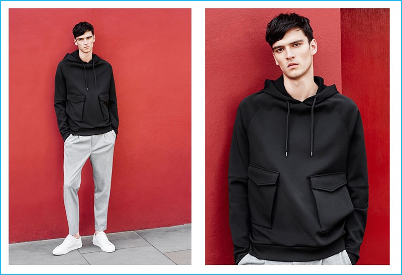 The hoodie gets technical as Topman makes a case for dressed up basics.