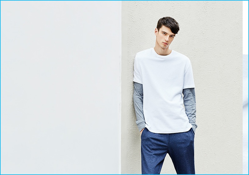 Topman makes a call to the 90s and layers tees for a relaxed throwback.
