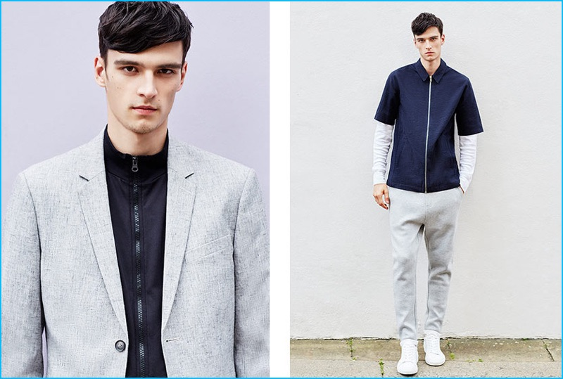 One of the season's biggest trends, Topman's track jacket is perfect for adding a sporty element to a smart sports coat.