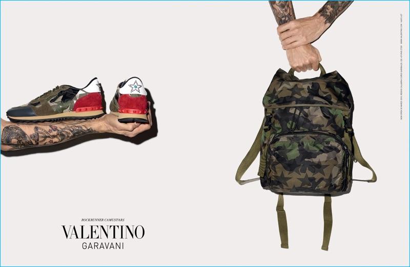 Terry Richardson spotlights Valentino Garavani's Rockrunner Camustars range for the label's fall-winter 2016 campaign.