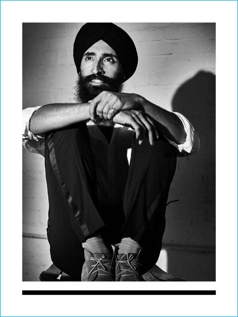 Waris Ahluwalia fronts J.Lindeberg's fall-winter 2016 advertising campaign.