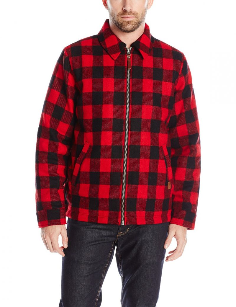 Woolrich Red Buffalo Check Wool Jacket