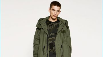 Zara Man Commits to Modern Military Style