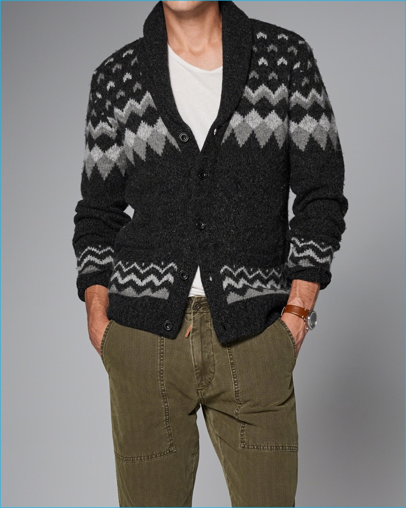 Abercrombie & Fitch 2016 Fall/Winter Men's Shawl Cardigans