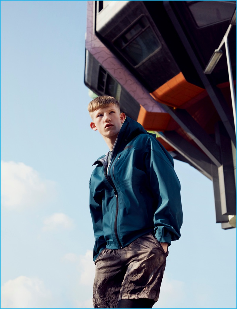 Model Connor Newall travels to Berlin for Adidas' fall-winter 2016 Highlights lookbook.