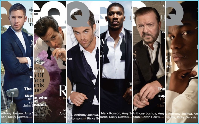British GQ 2016 Men of the Year Covers