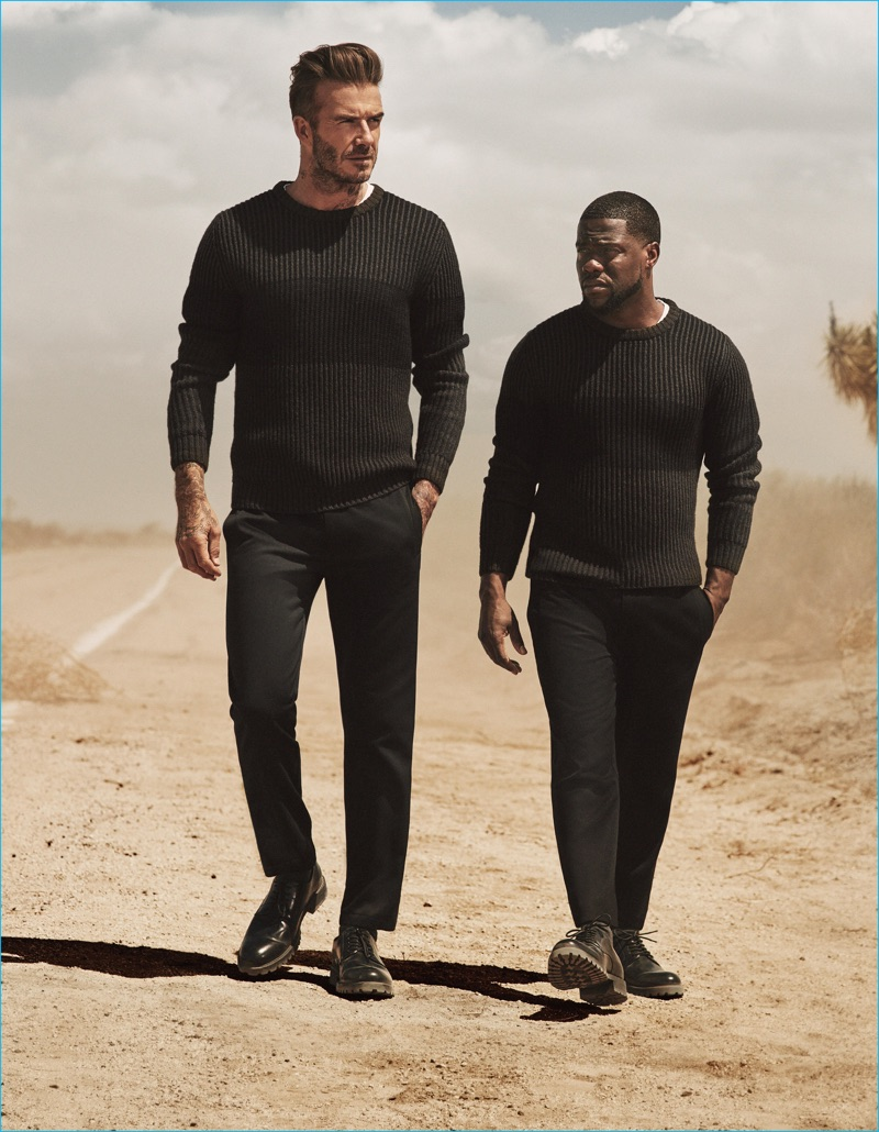 David Beckham Kevin Hart 16 H M Fall Winter Campaign The Fashionisto