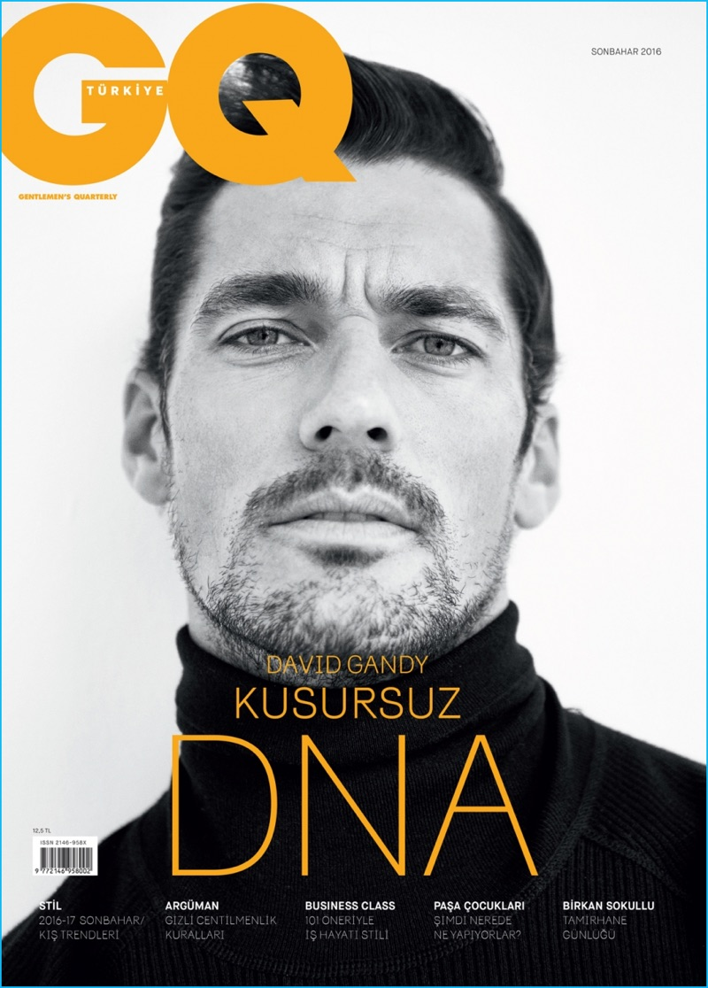 David Gandy covers the autumn 2016 issue of GQ Turkey.